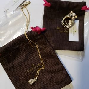 Kate Spade Polar Bear Ring and Necklace